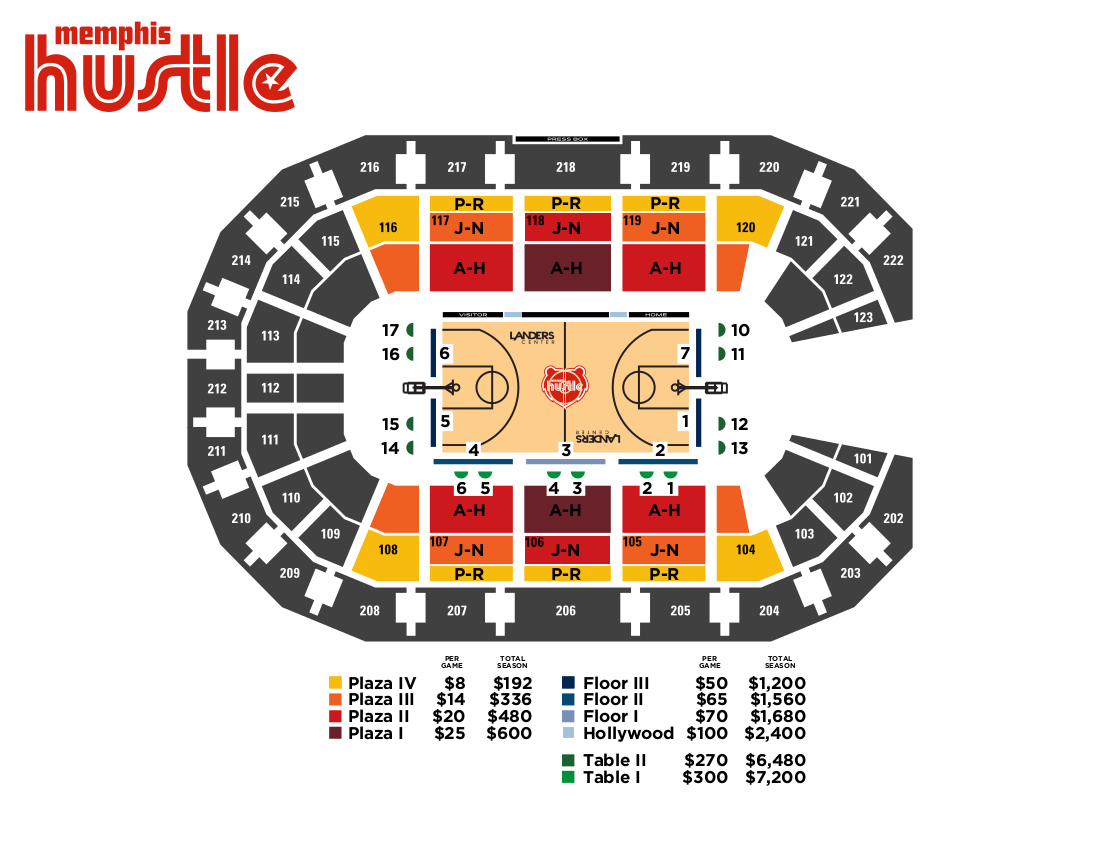 Landers center seating charts