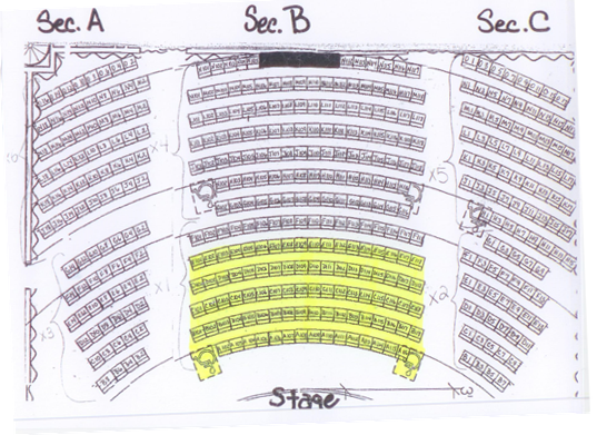 Landers Center theater map